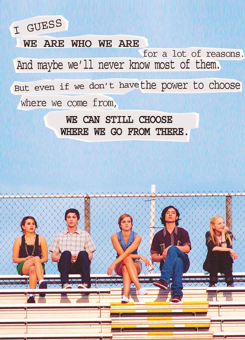 Perks of Being a Wallflower quotePerks Of Being A Wallflower Quotes We Accept The Love
